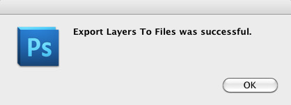 Export Layers to Files Sucessful Dialog Box