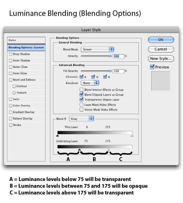 Luminance Blending – Simple Underlying Layers Adjustment