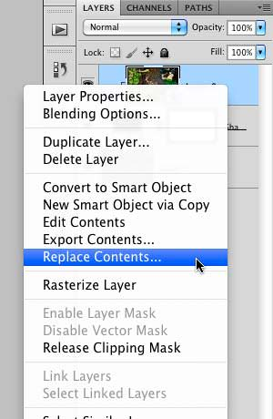 "Selecting the ""Replace Contents"" option"
