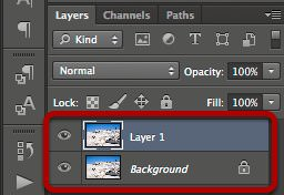 Duplicate layer.