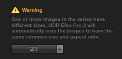 HDR Efex Pro 2 EV Spacing Selection